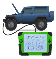 Off road vehicle diagnostics test service vector