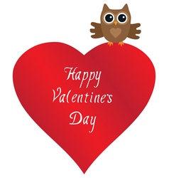 owl love vector image
