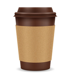 Paper cup for coffee stock vector