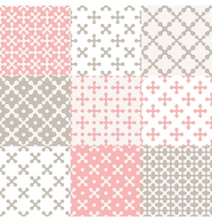 Pattern set cross vector image vector image