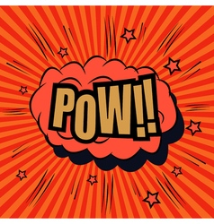Pow comic bubble text vector