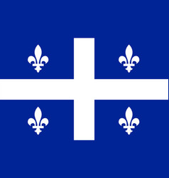 Quebec flag vector
