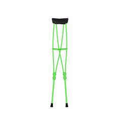 Retro crutches in green design vector