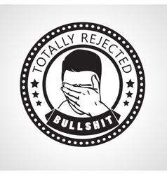 Round rejected stampor sticker vector
