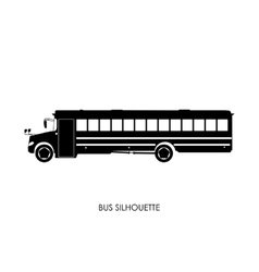 School bus black silhouette vector image