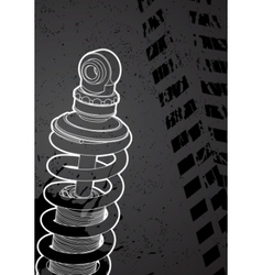shock-absorbers vector image