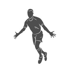 soccer player celebrating vector image