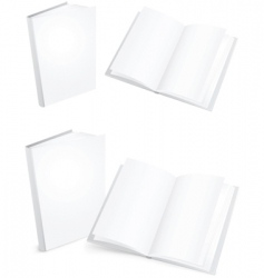 white books vector image vector image