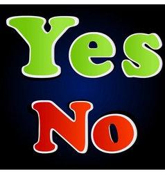 yes and no options vector image