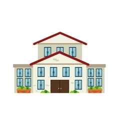 House residential architecture modern building vector