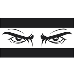 Angry look - bad eye vector