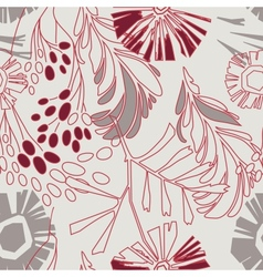 Retro floral pattern with flowers seamlessly vector