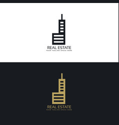Stylish real estate logo design for your company vector