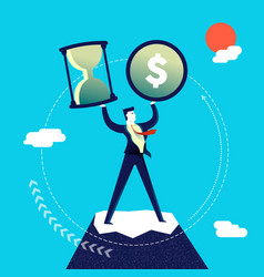 Time and money management business man vector