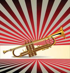 Trumpet retro background vector image