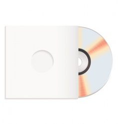 shiny cd and case red vector image
