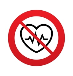 No heartbeat sign icon cardiogram symbol vector