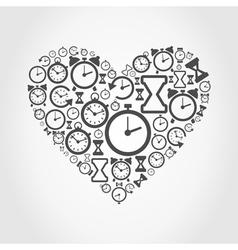 Hours heart vector image