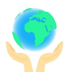 Earth in Hands vector image