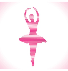 Pink dancing design with strip vector