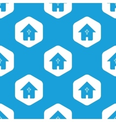 Christian house hexagon pattern vector
