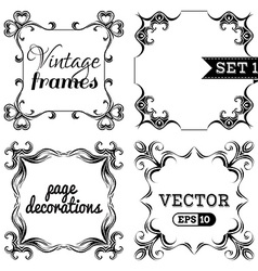 Set 1 ornate vintage frames vector