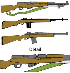 Semi automatic rifles vector