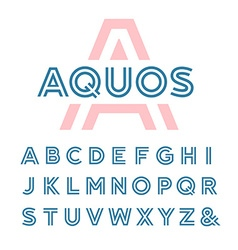 Linear font alphabet with latin letters vector