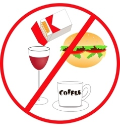 Unhealthy food and drink vector