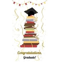 Graduation ceremony party invitation card vector image