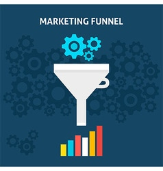 Marketing Funnel Flat Concept vector image