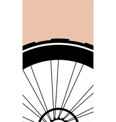 Silhouette of a bicycle wheel with tyre and vector