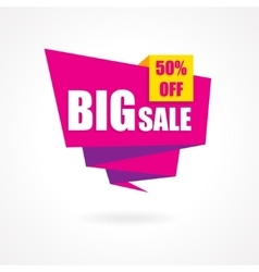 Discount 50 percent off - advertising vector