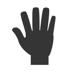 hand number four sign icon vector image