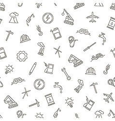 Industy pattern black icons vector