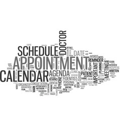 Appointment word cloud concept vector