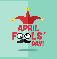 april fools day typography colorful flat design vector image