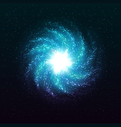 Beautiful spiral galaxy vector