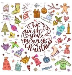 Christmas frame template card vector