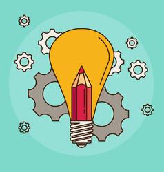 creative idea flat design vector image