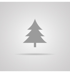 Cristmass tree icon vector image vector image