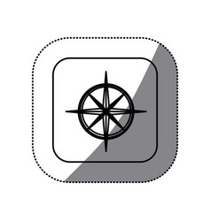 figure symbol compass icon vector image