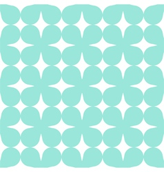 Green seamless simple clover pattern vector image vector image