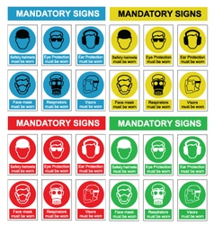 Health and safety sign collection vector