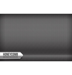 Honeycomb chrome and grey abstract background vector image vector image