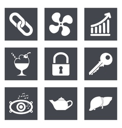 Icons for web design set 20 vector