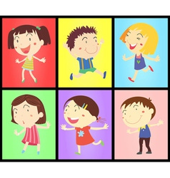 Kids on colours vector
