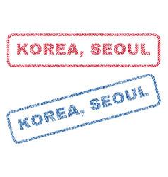 Korea seoul textile stamps vector