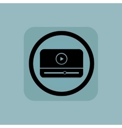 Pale blue mediaplayer sign vector