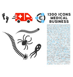 Parasites icon with 1300 medical business icons vector